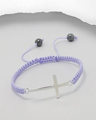 18b5e6c4e Shamballa s křížem 30x14mm - světle fialový - 3gr | Stříbrné šperky ...