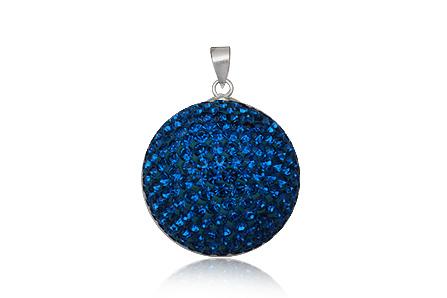 Přívěsek - koule 25mm temně modrá - 12 8cb06f3da09