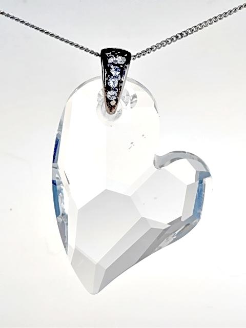 Přívěsek srdce Clear Swarovski Elements 35mm 4a4a779f2ab