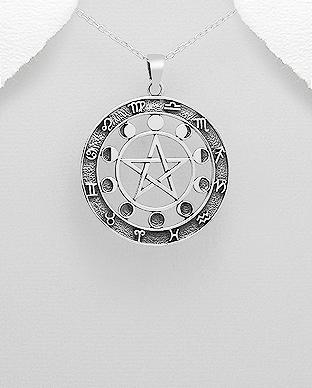 Stříbrný přívěsek znamení zvěrokruhu - pentagram  e5a8df43136
