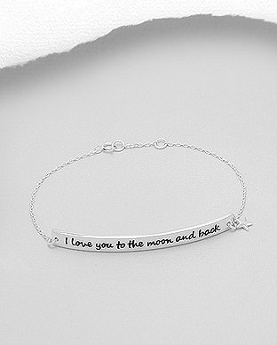 "Náramek ""I love you to the moon and back"" - 5gr"