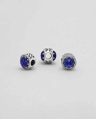 Korálek 11mm Light Midnight Blue & White 2,8gr
