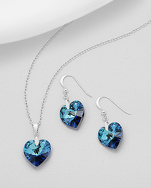 Swarovski Elements set Bermuda Blue