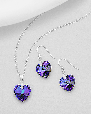 Swarovski Elements set Heliotrope